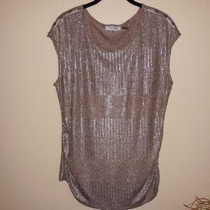 Calvin Klein metallic dress shirt